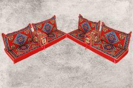 Orientalische Sitzecke, Sark Kösesi, Orientalische Sitzmöbel, 8-tlg., Kelim Sedir