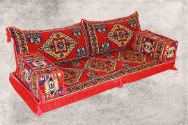 Orientalische Sitzecke, Sark Kösesi, Kelim, Sedir Minder, Orientalische Möbel 5-tlg.
