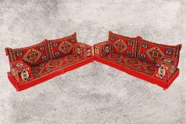 Orientalische Sitzecke, Orientalische Sitzmöbel, 10-tlg. Sark Kösesi
