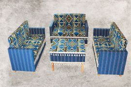 Sedir, Zeder, Orientalische Sitzecke, Sark Kösesi, Orientalische Sitzmöbel , Blau Zeder-2