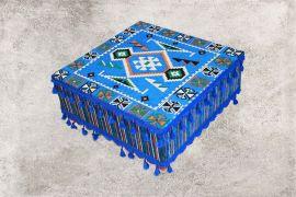 Orientalisches Sitzkissen,Blau Tisch, Sark Kösesi, Orientalischer Tisch