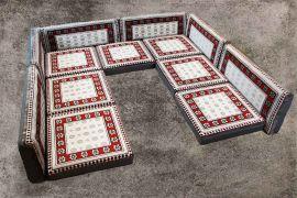 Orientalische Sitzecke, 13-tlg. Orientalische Sitzmöbel, Orient-Möbel, Sark Kösesi
