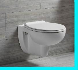 Spülrandloses Wand Hänge WC spülrandlos Toilette Tiefspüler mit softclose Deckel