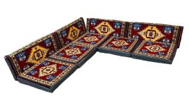 Orientalische Sitzecke, traditionelles Orientalisches Sofa, 9-tlg. Sitzkissen-Set